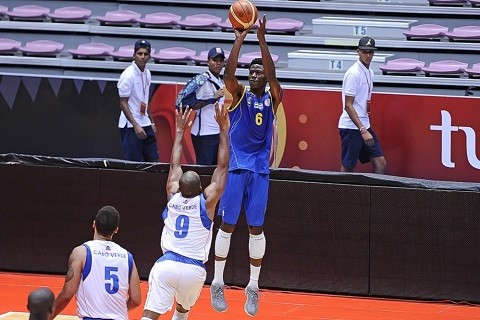 Therence Mayimba playing for Gabon in FIBA Afrobasket 2015