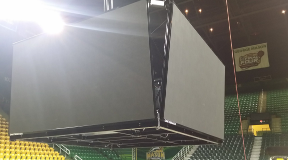 First look at EagleBank Arena's new video board