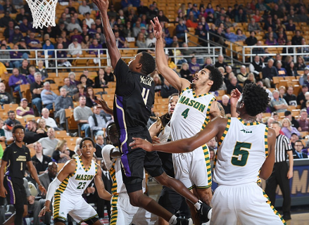 George Mason erases 4-point deficit to beat JMU in final 10 seconds